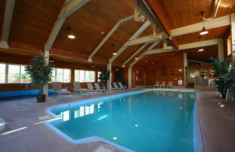 Indoor pool at Swan Mountain Resort.