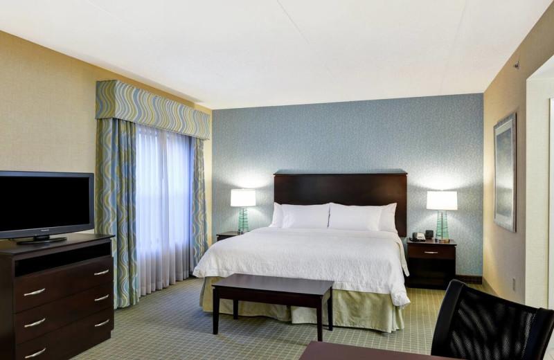 Guest room at Hampton Inn