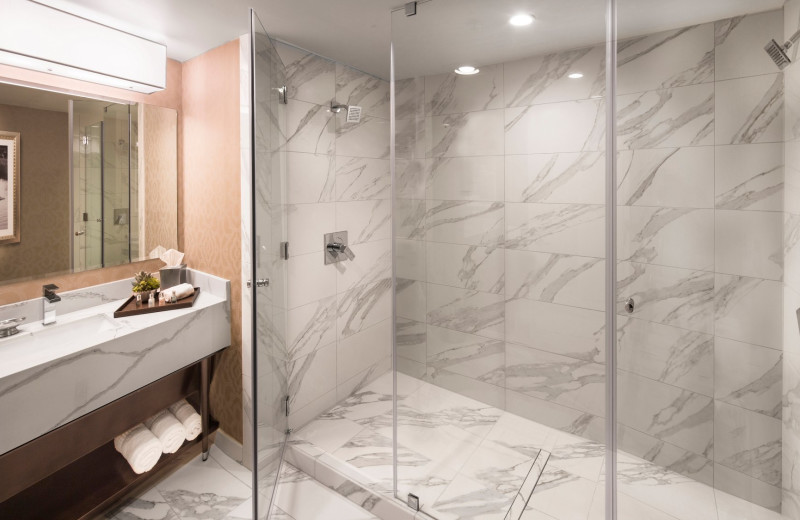 Guest bathroom at Grand Sierra Resort and Casino.