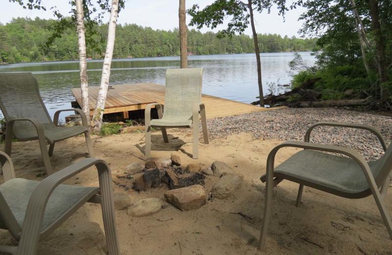 Rental patio at All-Season Cottage Rentals.