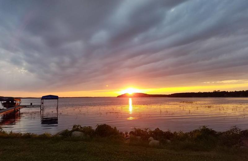 Lake view at Olson's Big Pine Get-A-Way.