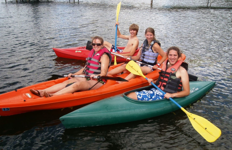 Kayaking at Dickerson's Lake Florida Resort.