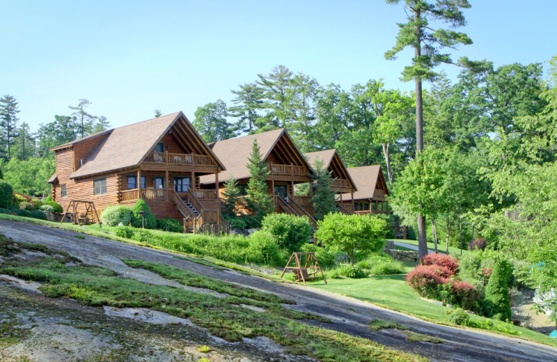 Exterior view of The Lodges at Cresthaven on Lake George.