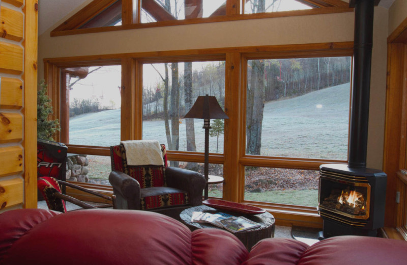 Guest living room at Big Powderhorn Mountain Resort.