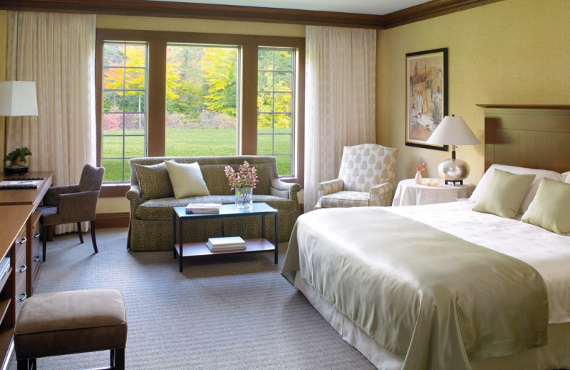 Guest bedroom at Canyon Ranch in Lenox.