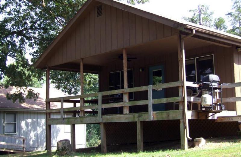 Cabin exterior at Buzzard Rock Resort and Marina.