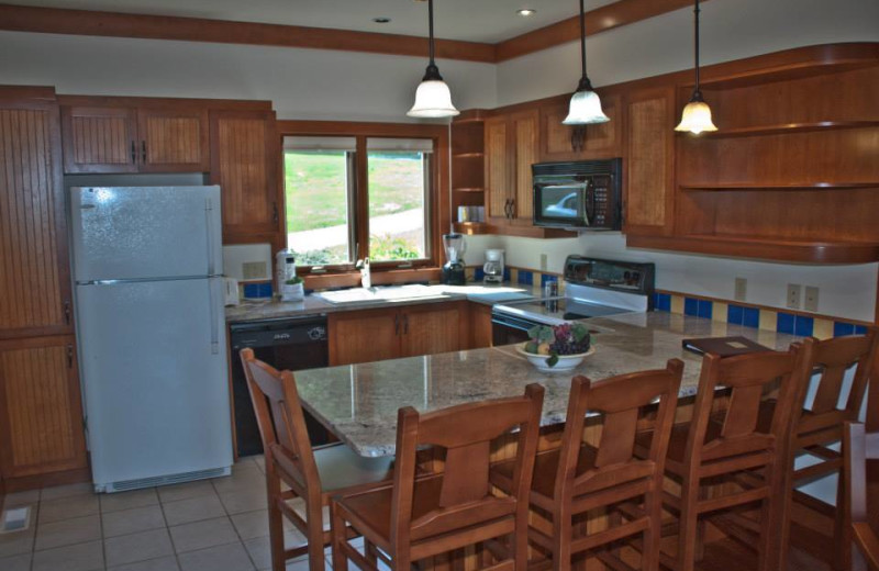 Villa kitchen at Sun Castle Resort Lakefront.