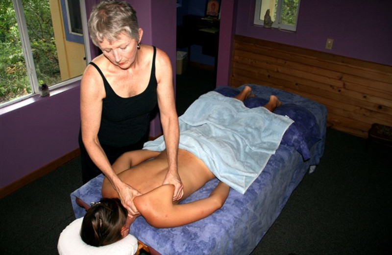Back massage at Rainbow Hearth Sanctuary & Retreat Center.