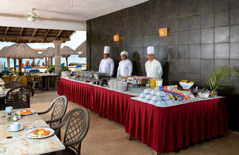 Dining at Playa Azul Hotel.
