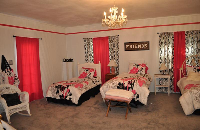 Guest room at Saline Creek Farm.
