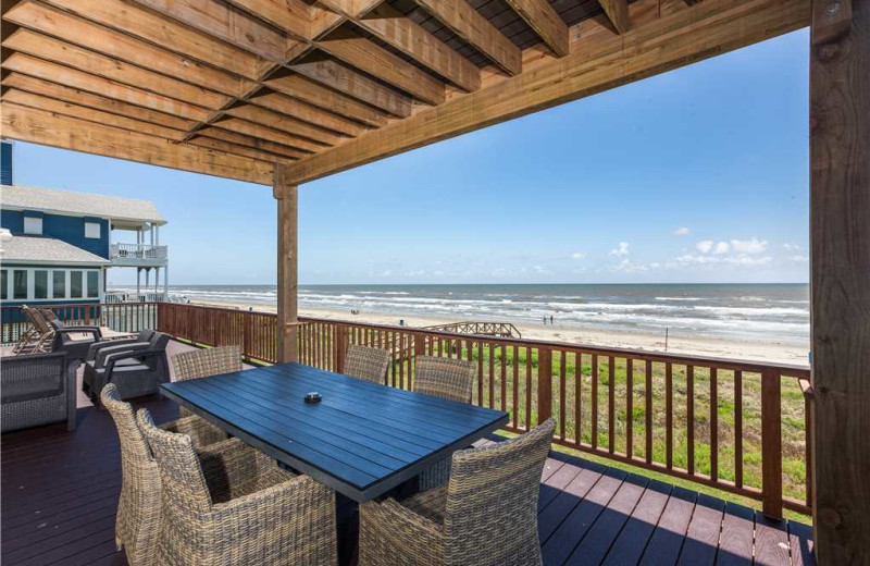 Rental balcony at Gary Greene Vacation Rentals.