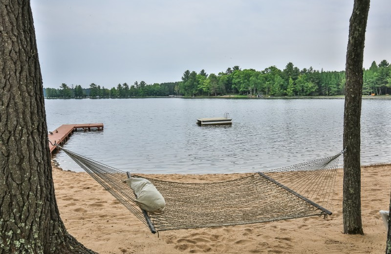 Beach hammock at Serenity Bay Resort.