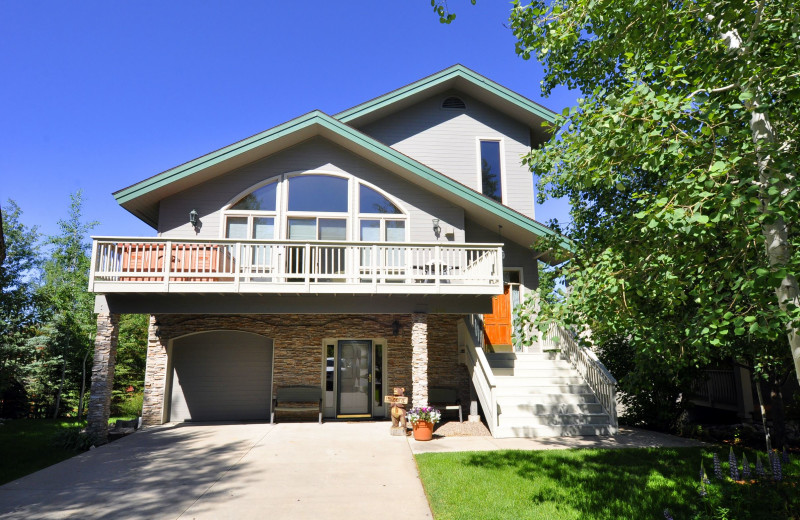 Vacation rental exterior at Steamboat Lodging Properties.