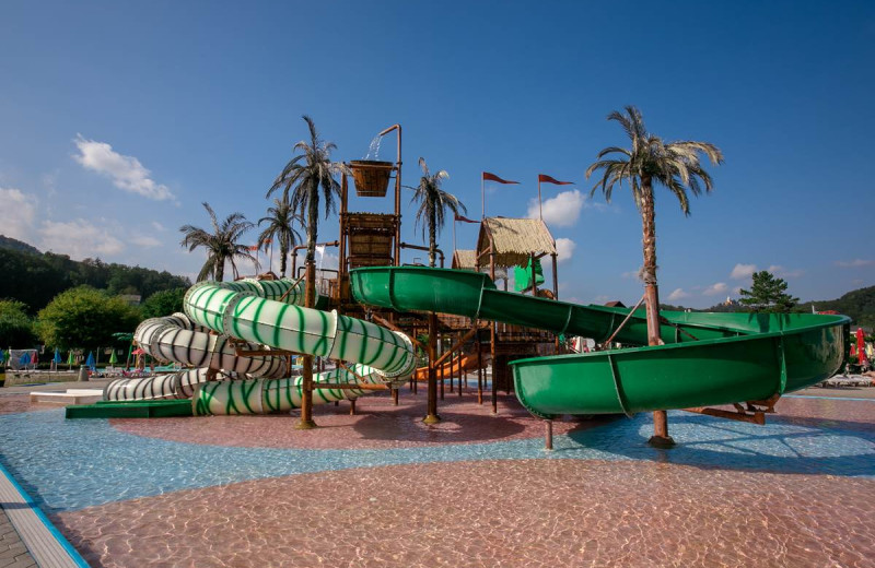 Water slides at Glamping Olimia Adria Village.