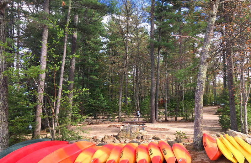 Canoes at Mi-Te-Jo Campground.