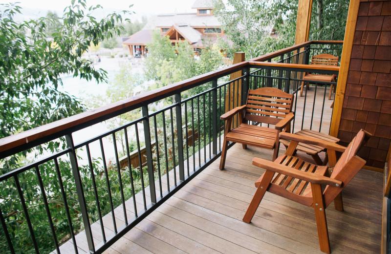 Deck view at Teton Springs Lodge.