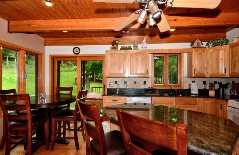 Vacation rental kitchen at Slope-Side Accommodation.