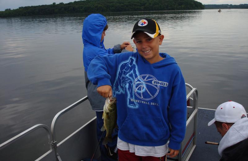 Fishing at Highland View Resort.