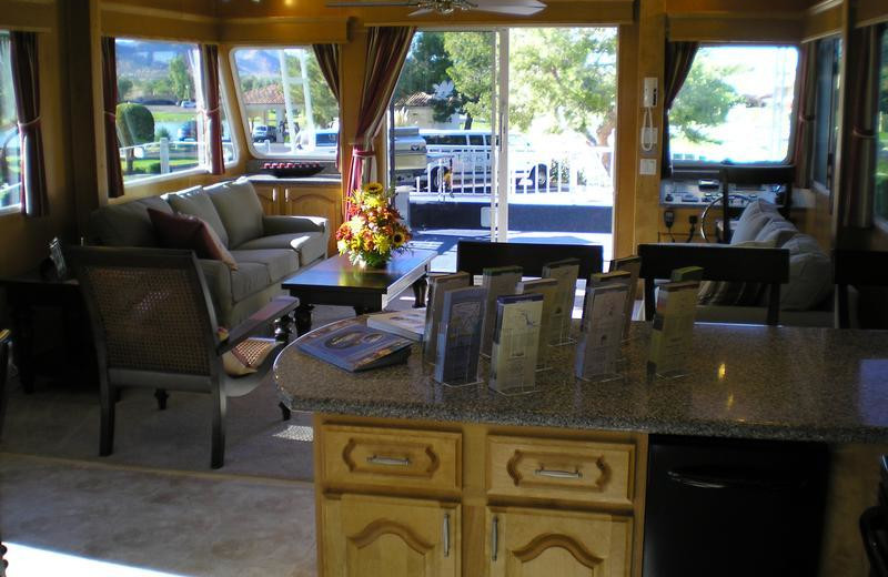 The 70' Gold interior houseboat at Antelope Point.