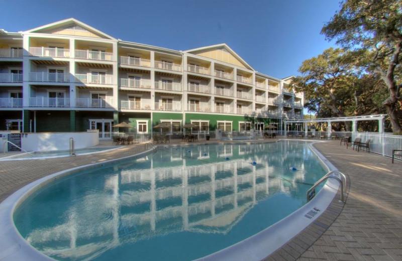 Outdoor pool at Hampton Inn & Suites Jekyll Island.