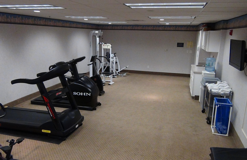 Fitness room at Delavan Lake Resort.