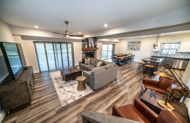Cottage interior at Thousand Hills Vacations.