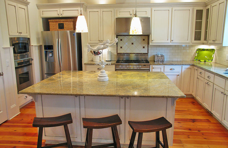 Rental kitchen at Exclusive Properties - Isle of Palms.