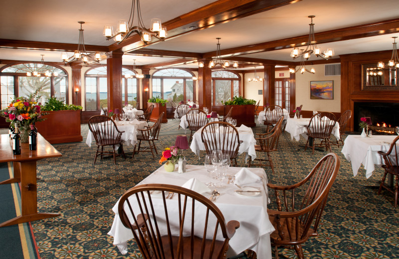 Dining room at Black Point Inn.
