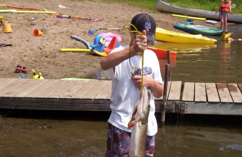 Fishing at Shady Hollow Resort and Campground.
