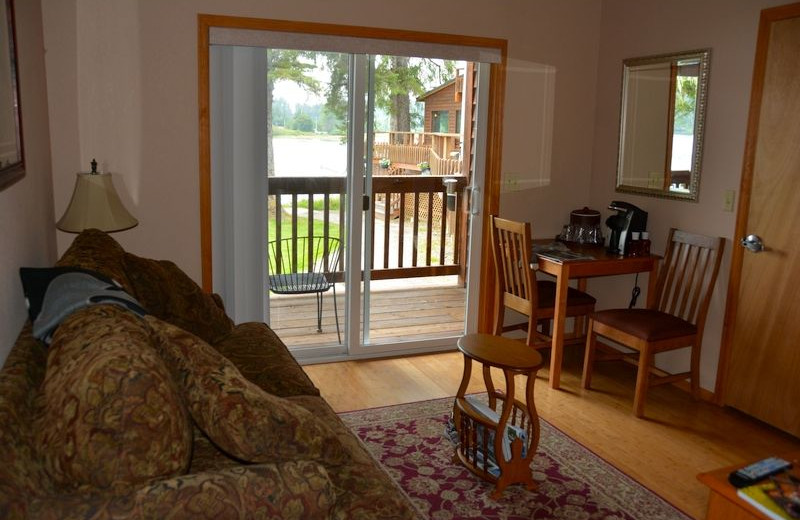 Guest room at The Fireweed Lodge.