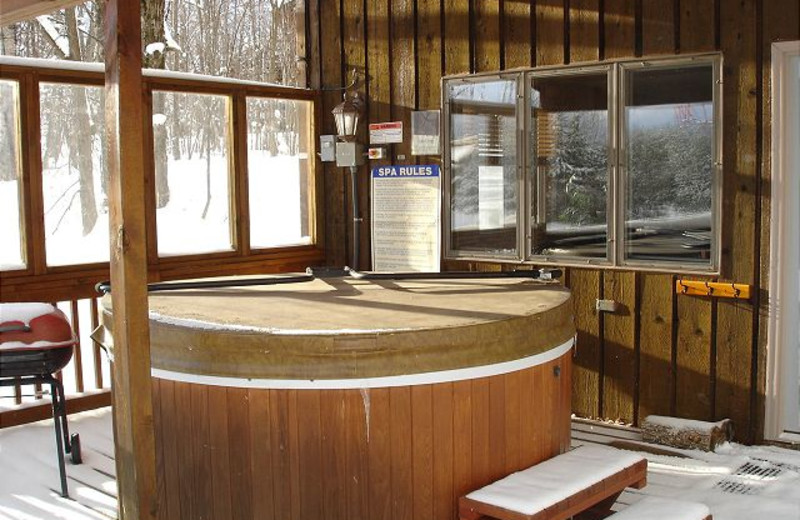 Rental jacuzzi at Big Powderhorn Mountain Resort.