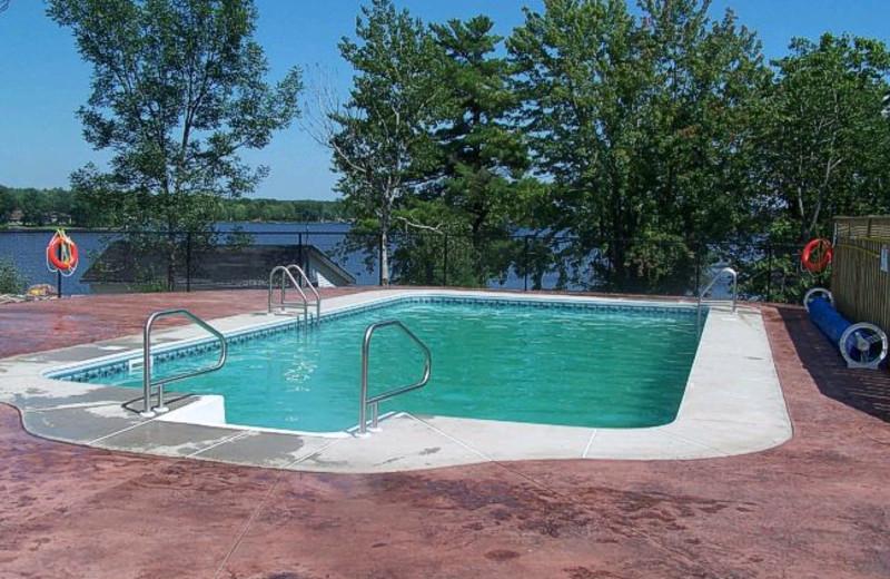 Outdoor Pool at West Nipissing Resort