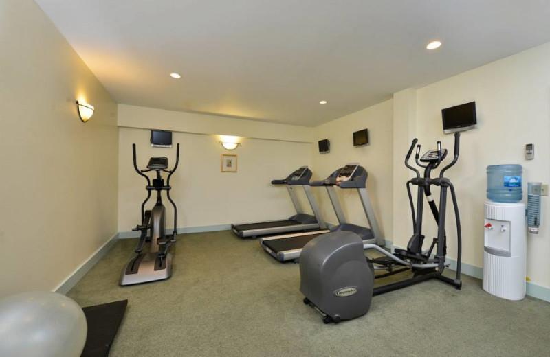 Fitness room at Bar Harbor Inn & Spa.