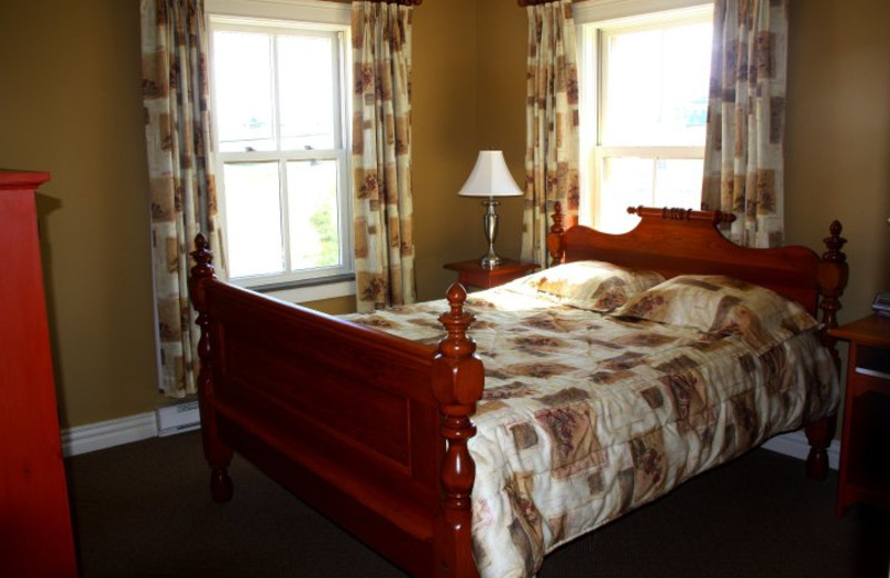 Guest room at The Harbour Quarters Inn.