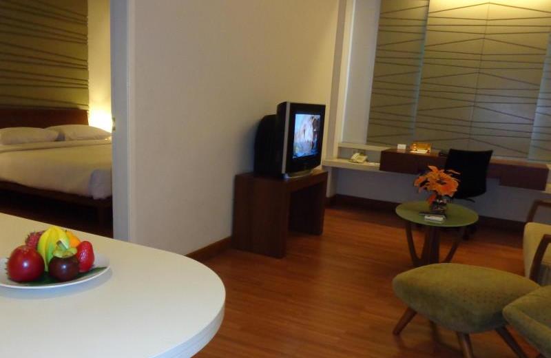 Guest room at Grand Cikarang Hotel.