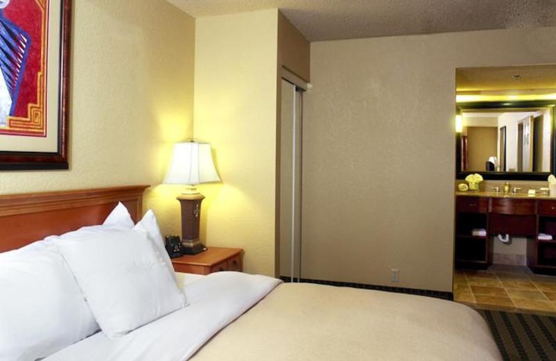 Guest room at Homewood Suites San Antonio-Northwest.