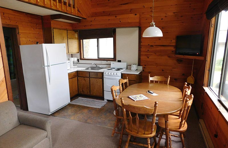 Cabin kitchen at Madsen's Resort.