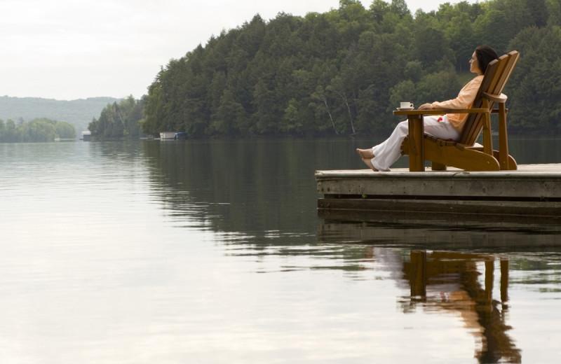 Relaxing at Deerstalker Resort.