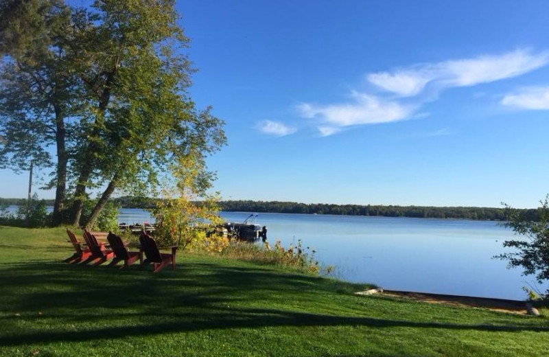 Lake view at Sunset Point Resort.