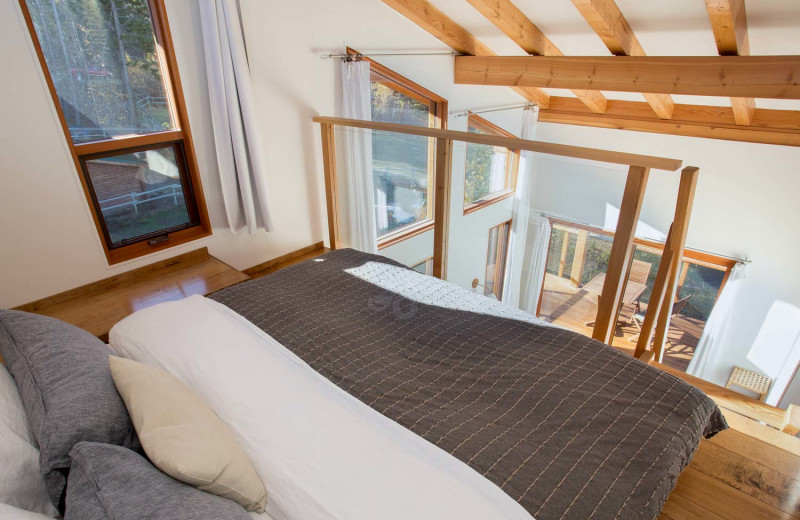 Loft bed at Myra Canyon.
