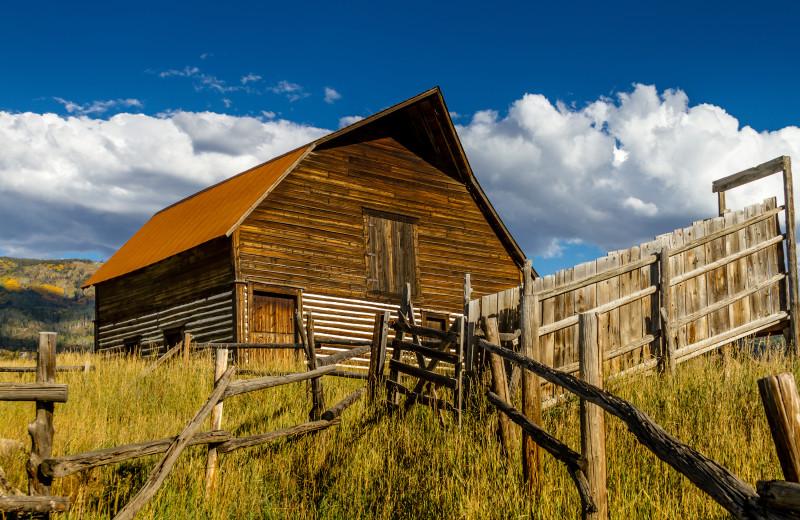 Historic barn near The Glen Eden Resort.