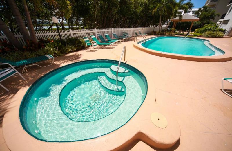 Rental pool at Plumlee Gulf Beach Realty.