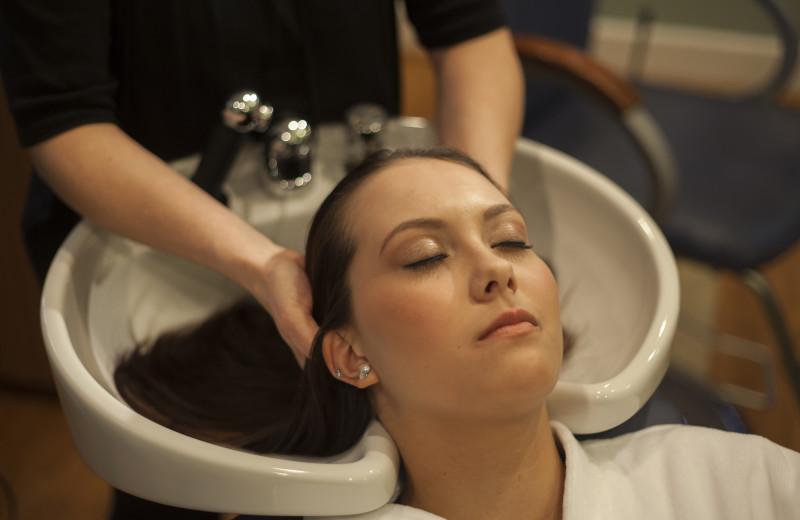 Hair wash at The Spa at Norwich Inn.