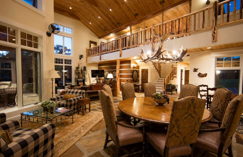Cottage living room at Joshua Creek Ranch.