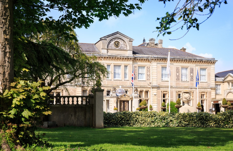 Exterior view of Down Hall Country House Hotel.