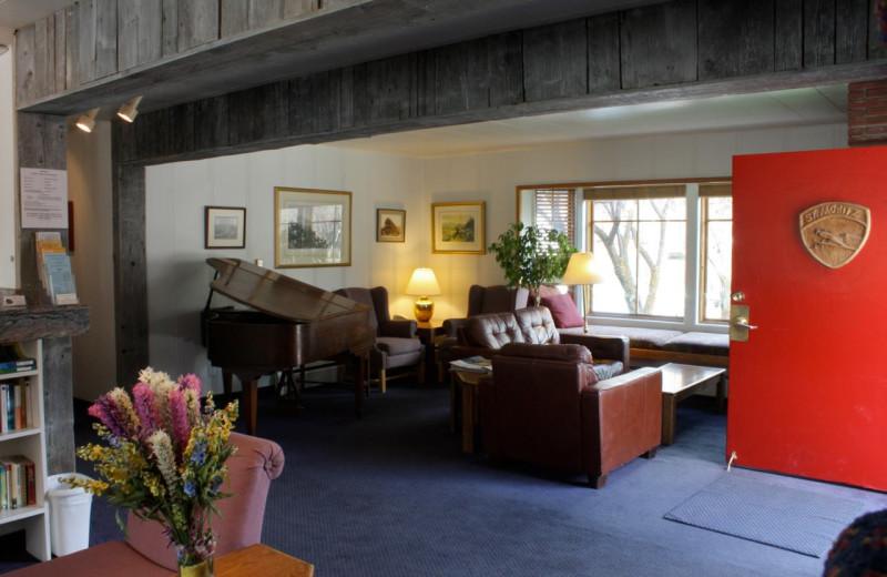 Lobby at St. Moritz Lodge & Condominiums.