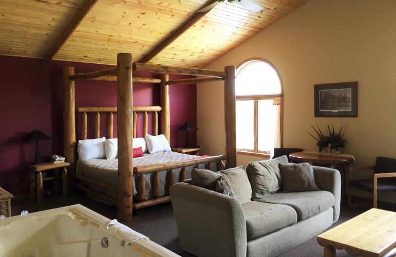 Guest room at Big Bear Adventures.
