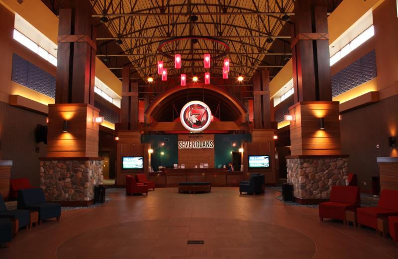 Interior view of Seven Clans Casino Hotel.