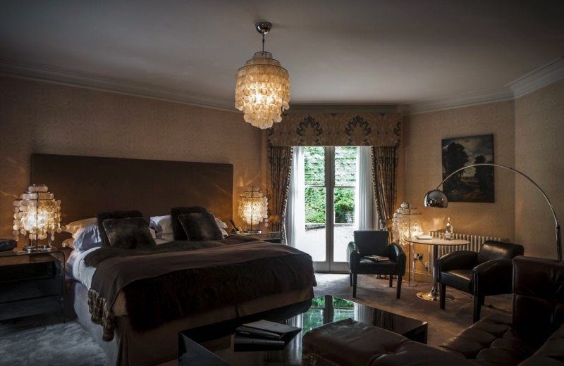 Guest room at Maison Talbooth.