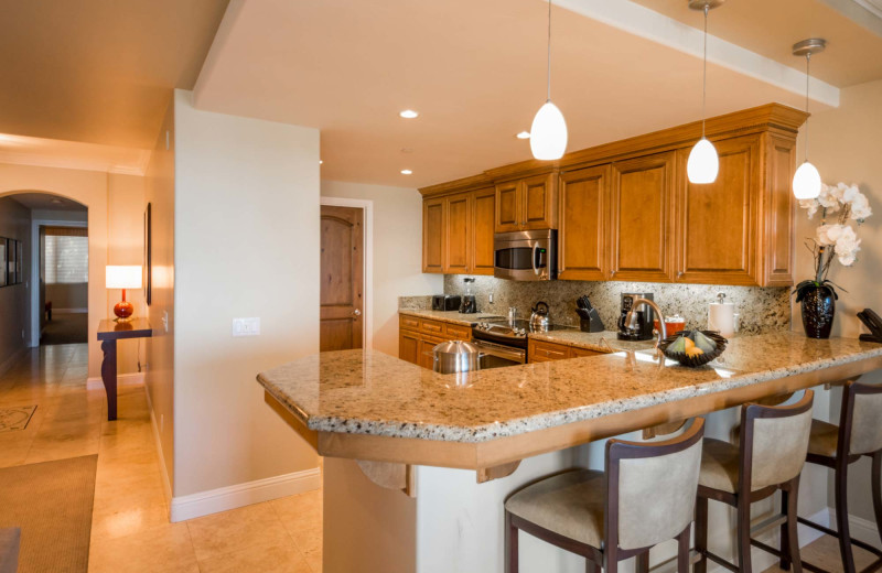 Guest kitchen at Dolphin Bay Resort & Spa.